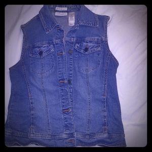 Liz Claiborne blue jean vest
